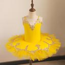 Χαμηλού Κόστους Ρούχα για μπαλέτο-Μπαλέτο Φορέματα Κοριτσίστικα Εκπαίδευση / Επίδοση Δίχτυ / Με πούλιες / Mohair Δαντέλα / Λεπτομέρεια με πέρλα / Ζωνάρια / Κορδέλες Αμάνικο Φυσικό Φόρεμα