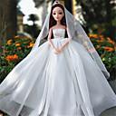 ราคาถูก Dolls-11 นิ้วกระโปรงชุดแต่งงานสาวของขวัญระดับ high-end เจ้าหญิงหรูหรามหาสมุทรดอกไม้ขนาดใหญ่ตกขาว