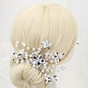 billiga Partyhatt-Oäkta pärla / Paljett Huvudbonad med Imitationspärla / Paljett 1 st. Bröllop Hårbonad