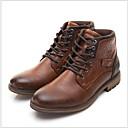 povoljno Muške čizme-Muškarci Vojničke čizme PU Jesen zima Čizme Ugrijati Čizme gležnjače / do gležnja Crn / Braon