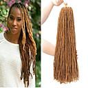 """ราคาถูก วิกผมเปีย-Braiding Hair Straight ที่ต่อ Braids บิด หวั่นล็อค สังเคราะห์ 4 ชิ้น Braids ผม สีธรรมชาติ 18"""" สังเคราะห์ ส่วนขยาย Dreadlock Dreads Faux วันเกิด สวมใส่ทั่วไป ของขวัญ Braids แอฟริกัน"""