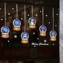 olcso Karácsonyi dekoráció-karácsonyi kristálygömb ablak film& ampampamp matricák dekorációs állati / mintás ünnepi / karakter / geometriai pvc (polivinil-klorid) ablak matrica