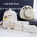 Χαμηλού Κόστους Σετ τσάντες-Γυναικεία Φερμουάρ / Αλυσίδα PU Σετ τσάντα Συμπαγές Χρώμα 4 σετ Σετ τσαντών Μαύρο / Ανθισμένο Ροζ / Μπεζ