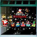Χαμηλού Κόστους Christmas Stickers-Window Film & αυτοκόλλητα Διακόσμηση Με Μοτίβο / Χριστούγεννα Διακοπών / Χαρακτήρας PVC Αυτοκόλλητο παραθύρου / Αυτοκόλλητο πόρτας / Lovely