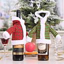 ราคาถูก อุปกรณ์เสริมไวน์-เสื้อกันหนาวคริสต์มาสชุดขวดขวดไวน์แต่งตัวชายชราแต่งตัวขวดแต่งตัว