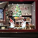 Χαμηλού Κόστους Christmas Stickers-νέο έτος Χριστουγεννιάτικη διακόσμηση τοίχο αυτοκόλλητα santa χιονάνθρωπος αυτοκόλλητα κινούμενα σχέδια γυαλί στατικά αυτοκόλλητα αυτοκόλλητα παράθυρο κατάστημα