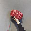 ราคาถูก กระเป๋าสะพายข้าง-สำหรับผู้หญิง PU Crossbody Bag สีทึบ สีดำ / สีแดงชมพู / ทับทิม / ฤดูใบไม้ร่วง & ฤดูหนาว