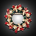 povoljno Religijski nakit-Žene Broševi 3D Cvijet Moda Pozlaćeni Broš Jewelry Duga Za Božić Party Festival