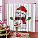 olcso 3D függönyök-Karácsony Magánélet Két panel Függöny