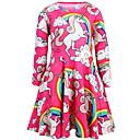 Χαμηλού Κόστους Χαμηλές γόβες για έφηβες-Παιδιά Κοριτσίστικα χαριτωμένο στυλ Κινούμενα σχέδια Φόρεμα Ρουμπίνι