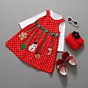 baratos Vestidos para Meninas-Infantil Para Meninas Desenho Animado Vestido Vermelho