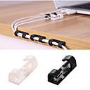 billige Baderomsgadgeter-20stk kabelviklinger klister selvklebende lås skrivebord ledning hodetelefoner telefonlinje slipsfeste arrangør bil veggklemmeholder