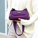 ราคาถูก กระเป๋าสะพายข้าง-สำหรับผู้หญิง ซิป ไนลอน Crossbody Bag สีทึบ สีม่วง