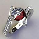 povoljno Seksi donje rublje-Žene Prilagodljivi prsten Kubični Zirconia 1pc Srebro Platinum Plated Jedinstven dizajn Europska pomodan Dar Dnevno Jewelry Cvjetni Tema Slatko