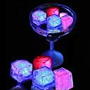 Χαμηλού Κόστους Φώτα διακόσμησης και γκάτζετ-12pcs οδήγησε κύβους πάγου λαμπερό κόμμα μπάλα flash φως φωτεινό φεστιβάλ γάμου νέον Χριστουγεννιάτικο μπαρ κρασί γυαλί διακόσμηση προμήθειες