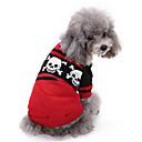 billiga Pet jul kostymer-Hund Tröjor Vinter Hundkläder Röd Kostym Corgi Beagle Shiba Inu Akrylik Fiber Dödskalle Ledigt / vardag Halloween XXS XS S M L XL