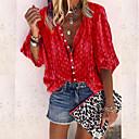 povoljno Viseća rasvjeta-Majica Žene - Osnovni Dnevno Jednobojni Kragna košulje purpurna boja