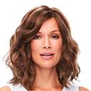 Χαμηλού Κόστους Περούκες από Ανθρώπινη Τρίχα-Φυσικά μαλλιά Δαντέλα Μπροστά Περούκα Βαθιά διαίρεση στυλ Βραζιλιάνικη Κυματιστό Καφέ Περούκα 180% Πυκνότητα μαλλιών Γυναικεία Γυναικεία Μεσαίου Μήκους Περούκες από Ανθρώπινη Τρίχα Premierwigs