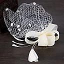 povoljno Party pokrivala za glavu-Platno Šešir / Ukosnica s Jedna boja 1 komad Vjenčanje / Special Occasion Glava