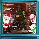 olcso Christmas Stickers-Ablakfólia és matricák Dekoráció Mintás / Karácsony Mértani / Karakter PVC Ablak matrica / Autocolant Ușă