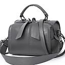 ราคาถูก กระเป๋าถือ-สำหรับผู้หญิง PU Crossbody Bag สีทึบ สีดำ / Earth Yellow / ไวน์