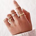 billige Fashion Rings-Dame Ring Ring Set 8pcs Gull Legering Annerledes Klassisk Vintage trendy Gave Daglig Smykker Klassisk Pære