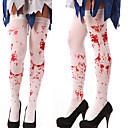 billige Smartklokker-kvinner lårestrømper med blodsprut / kryssmønster til cosplay show kostyme party halloween maskeradefest