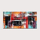 voordelige Abstracte schilderijen-Hang-geschilderd olieverfschilderij Handgeschilderde - Abstract Modern Zonder Inner Frame