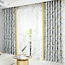 olcso 3D függönyök-modern nyomtatott virágfüggönyök nappali hálószoba konyhai madarak növények két panelt hagy
