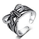 Χαμηλού Κόστους Μοδάτο Δαχτυλίδι-Γυναικεία Δέσε Ring 1pc Μαύρο S925 Sterling Silver Στυλ Λαογραφικό Steampunk Δώρο Καθημερινά Κοσμήματα Φιογκάκι