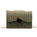 ราคาถูก กระเป๋าสะพายข้าง-สำหรับผู้หญิง โซ่ ผ้าขนสัตว์ / Straw Crossbody Bag ลายบล็อคสี สีดำ / สีน้ำตาล / สีน้ำเงิน