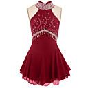 Χαμηλού Κόστους Φόρεμα για παγοδρομία-Φόρεμα για φιγούρες πατινάζ Γυναικεία Κοριτσίστικα Patinaj Φορέματα Μαύρο Βαθύ μπλε Βαθύ μωβ Spandex Ελαστίνη Υψηλή Ελαστικότητα Ανταγωνισμός Ενδυμασία πατινάζ Χειροποίητο Jeweled Στρας Αμάνικο