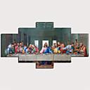baratos Impressões-Estampado Estampados de Lonas Esticada - Abstrato Tradicional Modern 5 Painéis Art Prints