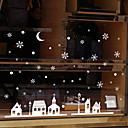 Χαμηλού Κόστους Christmas Stickers-Window Film & αυτοκόλλητα Διακόσμηση Με Μοτίβο / Χριστούγεννα Διακοπών / Χαρακτήρας PVC Αυτοκόλλητο με ομαλή επιφάνεια / Αυτοκόλλητο παραθύρου
