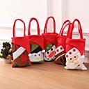 olcso Karácsonyi dekoráció-5db újévi karácsonyi ajándékok Mikulás hóember cukorka táskák függő táska boldog karácsonyt tároló