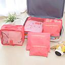 Χαμηλού Κόστους Γάντζα-υψηλής ποιότητας μόδα ταξιδιού αποθήκευσης τσάντα που για τα ρούχα τακτοποιημένο διοργανωτής έξ έξι τσάντα πλυντήριο τσάντα συσκευασίας τσάντες για κουβέρτα