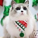 olcso Pet karácsonyi jelmezek-Kutyák Macskák Házi kedvencek Kutyakendő Tél Kutyaruházat Piros Jelmez Polyster Csíkos Karácsony Szerepjáték Karácsony XS S M L XL