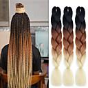 """ราคาถูก วิกผมเปีย-Braiding Hair Straight ที่ต่อ Braids บิด แอฟริกา Kinky Braids สังเคราะห์ 3 ชิ้น Braids ผม สีธรรมชาติ 24 inch 24"""" ทนต่อความร้อน สังเคราะห์ ผม Kanekalon 100% สวมใส่ทั่วไป Braids แอฟริกัน"""