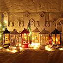 olcso Christmas Stickers-1 db led éjszakai fény meleg fehér karácsony szüreti Mikulás hóember kastély fény lámpa függő dekoráció a partik led led lámpa party kellékek lógó lámpa