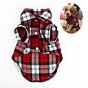 billiga Reseprodukter för hunden-Hund 셔츠 Hundkläder Grön Röd Mörkblå Kostym Mops Pudel Chihuahua Linne & Siden blandning Geometrisk Klassisk Randig Rutig S M L XL