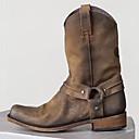 billige Herresandaler-Herre Desert Boots PU Vår sommer / Høst vinter Forretning / Fritid Støvler Gange Pustende Støvletter Svart / Kakifarget / Fest / aften