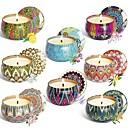 povoljno Naljepnice, etikete i privjesci-8pcs / set mirisna svijeća poklon set prirodna biljka vosak bez dima set bez svijeća aromaterapija set svijeća