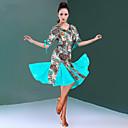 olcso Latin ruha-Latin tánc Ruhák Női Edzés / Teljesítmény Mlječna vlakna Csokor / Kombinált Féhosszú Természetes Ruha