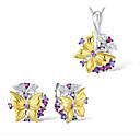 Χαμηλού Κόστους Μοδάτο Κολιέ-Γυναικεία Cubic Zirconia Νυφικό κόσμημα σετ Γεωμετρική Πεταλούδα Μοντέρνα Σκουλαρίκια Κοσμήματα Χρυσό Για Πάρτι Καθημερινά 1set