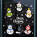 olcso Christmas Stickers-karácsonyi hóember ablak film& ampampamp matricák dekorációs állati / mintás ünnepi / karakter / geometriai pvc (polivinil-klorid) ablak matrica