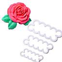 povoljno Ručni tuš-3pcs postavi prekrasan 3d reznica cvijeća ruža kalup sugarcraft kolačić kolač kolač čokolada diy alat za ukrašavanje torta