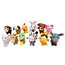 ราคาถูก หุ่นกระบอก-ลิง Puppets น่ารัก แปลกใหม่ Cartoon สิ่งทอ Plush เด็กผู้หญิง Toy ของขวัญ 7 pcs