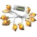 Χαμηλού Κόστους Θήκες & Καλύμματα-1,5 ίντσες Φώτα σε Κορδόνι 10 LEDs Θερμό Λευκό Δημιουργικό / Νεό Σχέδιο / Πάρτι Μπαταρίες AA Powered 1set