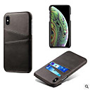 billige Bell & Låser & Mirrors-tynn PU-skinnveske for iphone 6 / 6s / 6p / 6sp / 7/8 / 7p / 8p / x / xs / xp / 8p / 11 / 11p luksus bakdeksel kortholders kortside \ t