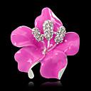ราคาถูก เข็มกลัด-สำหรับผู้หญิง เข็มกลัด 3D Flower แฟชั่น ทองชุบ เข็มกลัด เครื่องประดับ สีดำ ชมพูม่วง สีม่วง สำหรับ งานแต่งงาน ปาร์ตี้ Street ฮอลิเดย์ เทศกาล